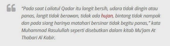 Doa serta tanda Malam Lailatul Qadar
