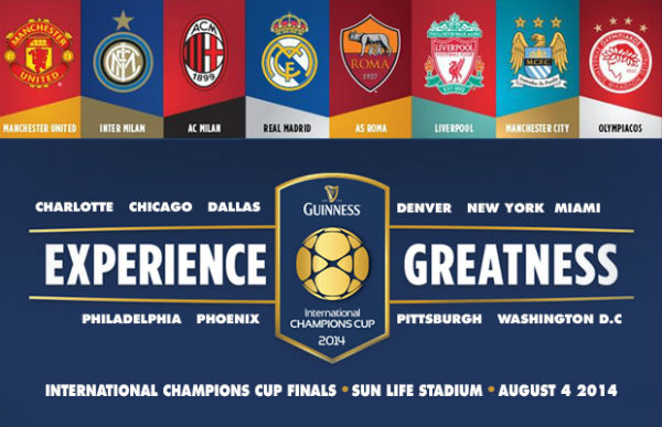 Jadwal Pertandingan International Champions Cup 2014