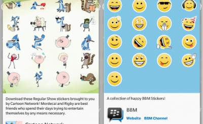 Stiker Baru BlackBerry BBM Cartoon Network dan Happy